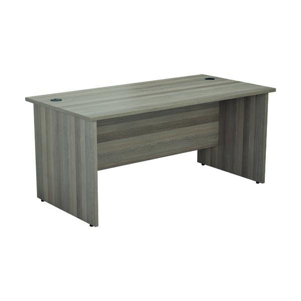Rectangular Desks Jemini Rectangular Panel End Desk 1800x800mm Grey Oak KF804536