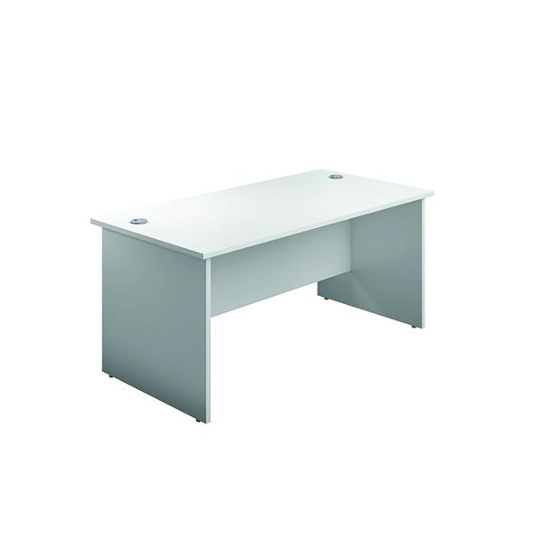 Rectangular Desks Jemini Rectangular Panel End Desk 1800x800mm White KF804550