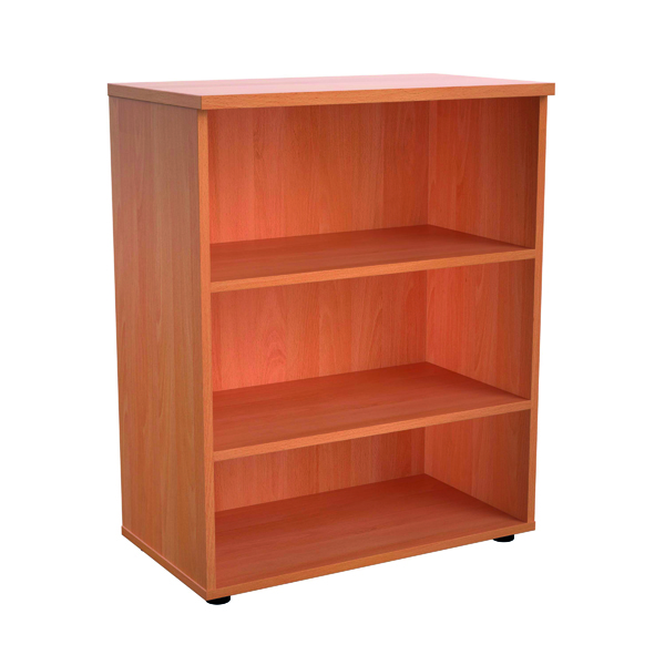 Up To 1200mm High Jemini 1000mm 1 Shelf Wooden Bookcase 450mm Depth Beech KF810049