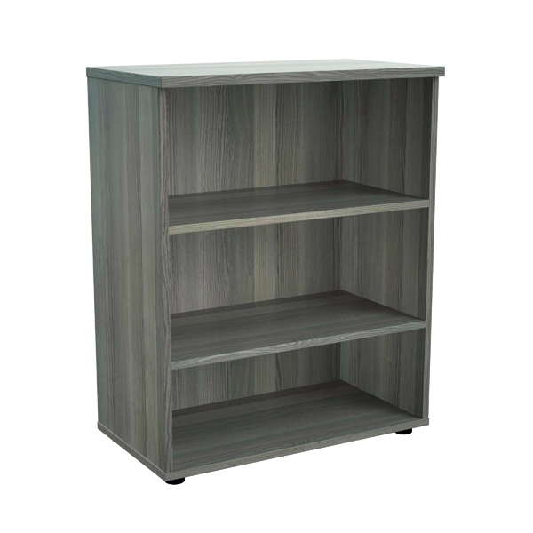 Up To 1200mm High Jemini 1000mm 1 Shelf Wooden Bookcase 450mm Depth Grey Oak KF810179