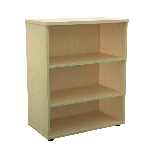 H up to 1200mm Jemini 1000mm 1 Shelf Wooden Bookcase 450mm Depth Maple KF810186