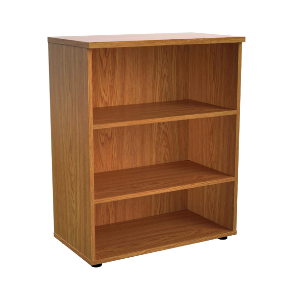 Up To 1200mm High Jemini 1000mm 1 Shelf Wooden Bookcase 450mm Depth Nova Oak KF810193