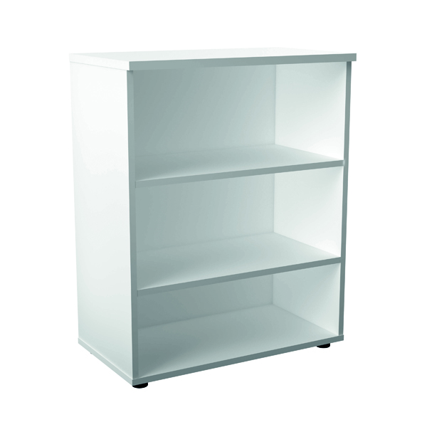 H up to 1200mm Jemini 1000mm 1 Shelf Wooden Bookcase 450mm Depth White KF810209
