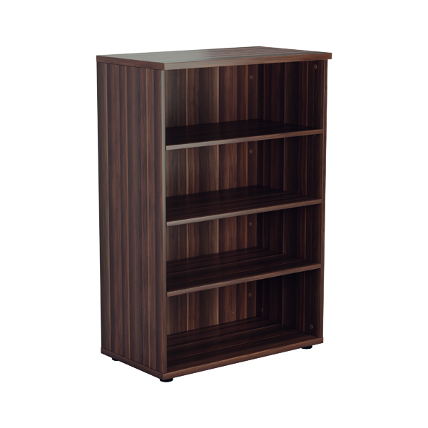 Jemini 1200mm 3 Shelf Wooden Bookcase 450mm Depth Dark Walnut KF810339