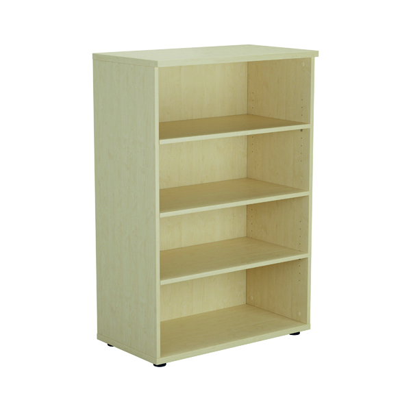 Jemini 1600mm 4 Shelf Wooden Bookcase 450mm Depth Maple KF810520
