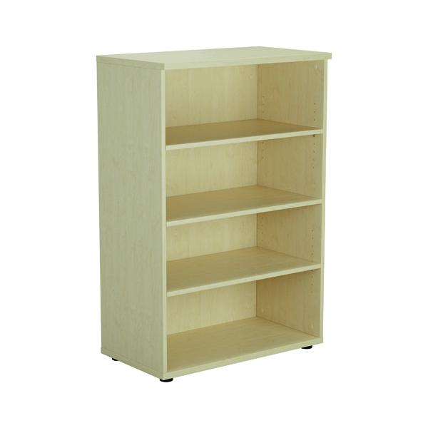 H up to 1200mm Jemini 1600mm 4 Shelf Wooden Bookcase 450mm Depth Maple KF810520