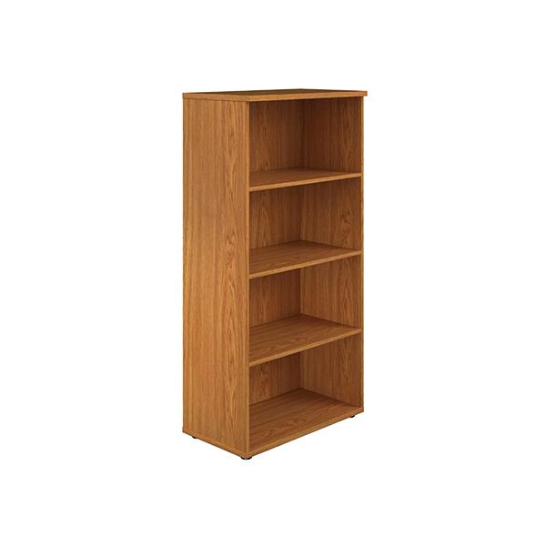 H up to 1200mm Jemini 1600mm 4 Shelf Wooden Bookcase 450mm Depth Nova Oak KF810537