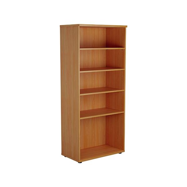 H up to 1200mm Jemini 1800mm 4 Shelf Wooden Bookcase 450mm Depth Beech KF810551