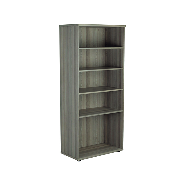 Jemini 1800mm 4 Shelf Wooden Bookcase 450mm Depth Grey Oak KF810995