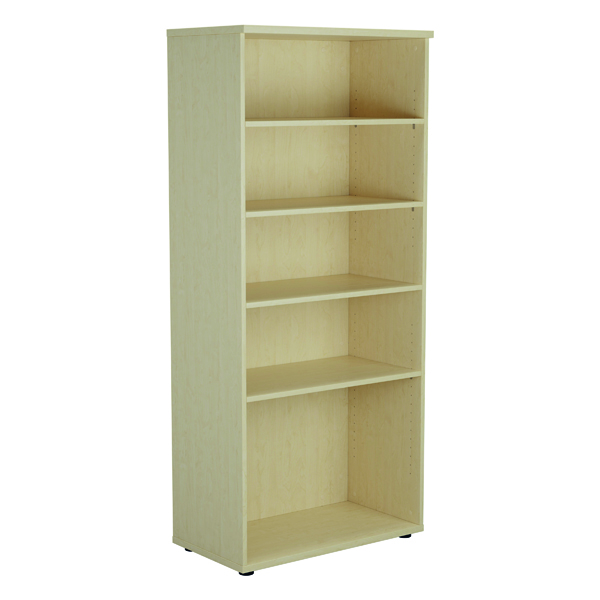 Up To 1200mm High Jemini 1800mm 4 Shelf Wooden Bookcase 450mm Depth Maple KF811008