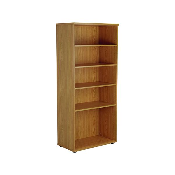 H up to 1200mm Jemini 1800mm 4 Shelf Wooden Bookcase 450mm Depth Nova Oak KF811015