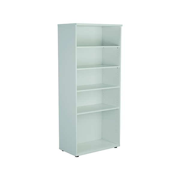 Jemini 1800mm 4 Shelf Wooden Bookcase 450mm Depth White KF811022