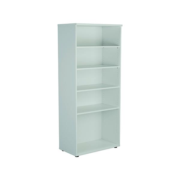 H up to 1200mm Jemini 1800mm 4 Shelf Wooden Bookcase 450mm Depth White KF811022