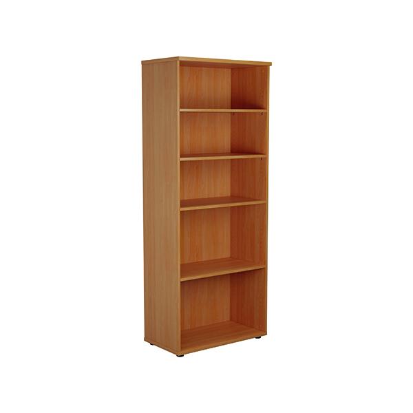 Jemini 2000mm 4 Shelf Wooden Bookcase 450mm Depth Beech KF811039