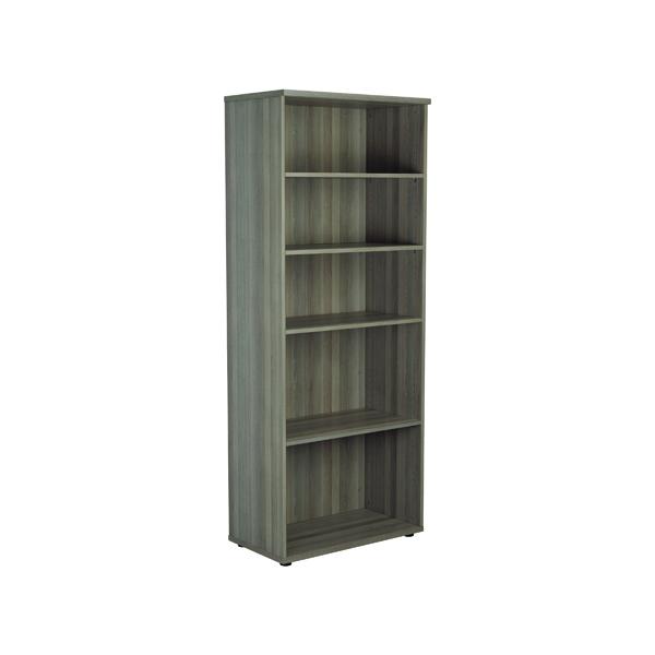 Jemini 2000mm 4 Shelf Wooden Bookcase 450mm Depth Grey Oak KF811169