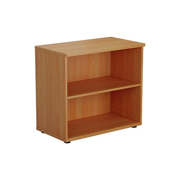 Jemini 700mm 1 Shelf Wooden Bookcase 450mm Depth Beech KF811206