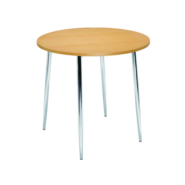 Tables Arista Beech/Chrome 800mm Round Bistro Table KF815146