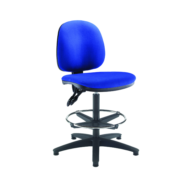 Draughtsman Arista Draughtsman Chair Adjustable Footrest Blue KF815147