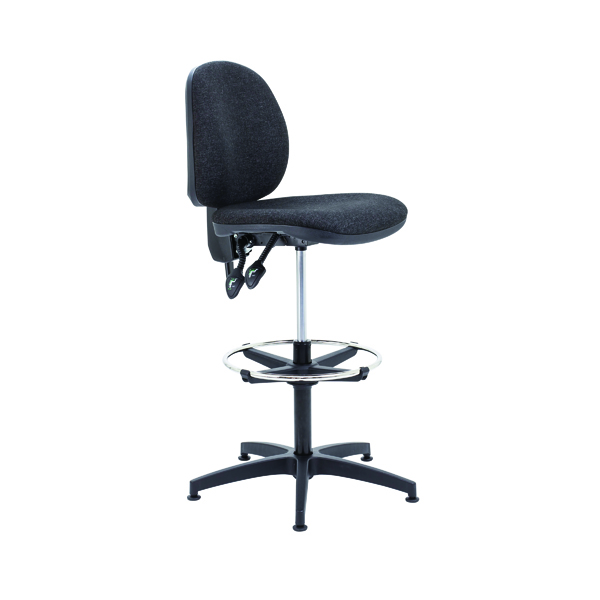 Draughtsman Arista Draughtsman Chair Adjustable Footrest Charcoal KF815148