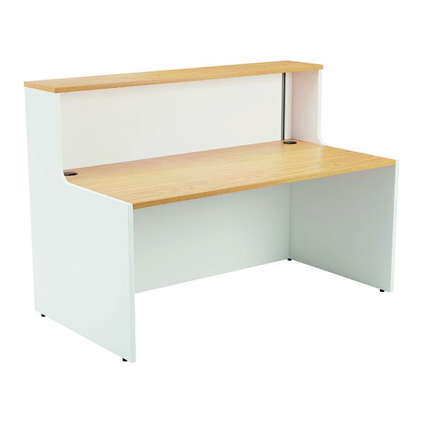 Reception Jemini Reception Unit 1400mm Nova Oak/White KF816357