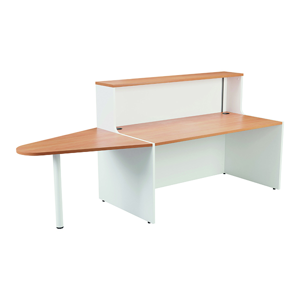 Reception Jemini Reception Unit 1400mm with Extension Beech/White KF816364