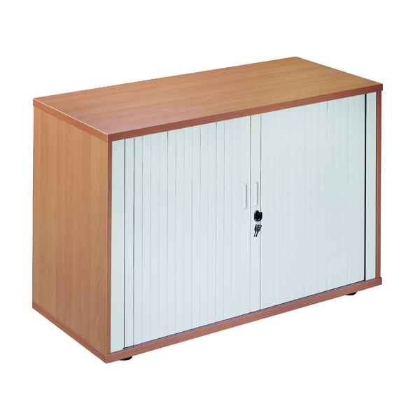 Unspecified Jemini Side Opening Tambour Cupboard Desk High Beech KF818528