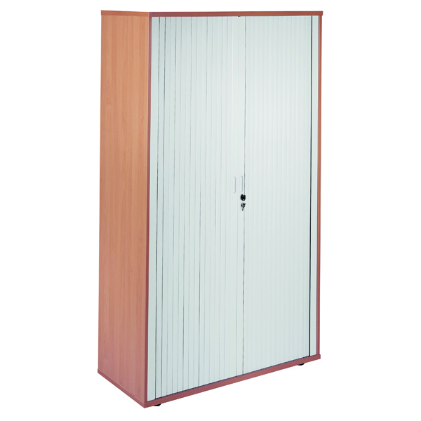 Up to 1200mm High Jemini Side Opening Tambour Cupboard 2m High Beech KF818572