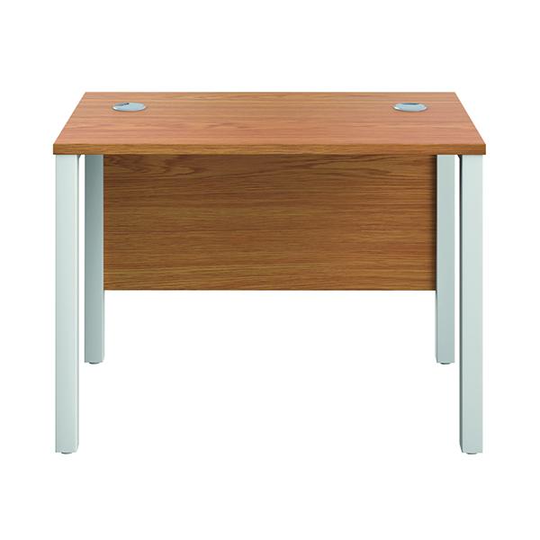 Rectangular Jemini GoalPost Rect Desk 1000x600mm Nova Oak-White GP1060RECNOWH