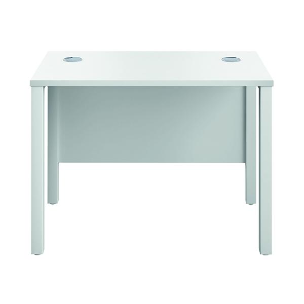 Rectangular Jemini GoalPost Rect Desk 1000x600mm White-White GP1060RECWHWH