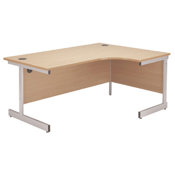 Radial Jemini Beech/Silver 1200mm Right Hand Radial Cantilever Desk KF838042