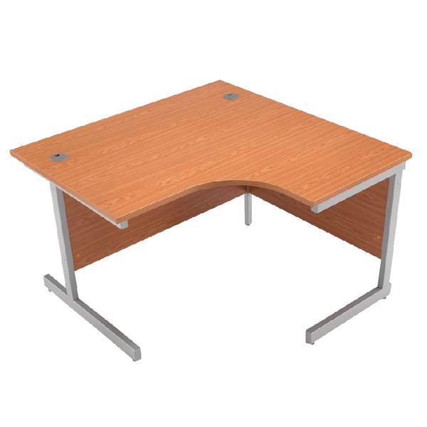 Radial Jemini Oak/Silver 1200mm Right Hand Radial Cantilever Desk KF838043