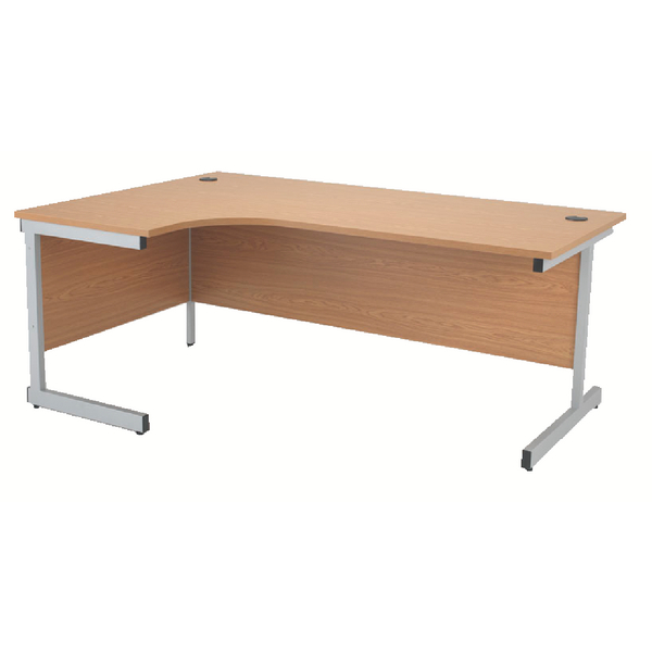 Radial Jemini Oak/Silver 1600mm Left Hand Radial Cantilever Desk KF838046