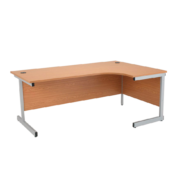 Radial Jemini Oak/Silver 1600mm Right Hand Radial Cantilever Desk KF838049