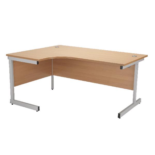 Radial Jemini Beech/Silver 1800mm Left Hand Radial Cantilever Desk KF838051