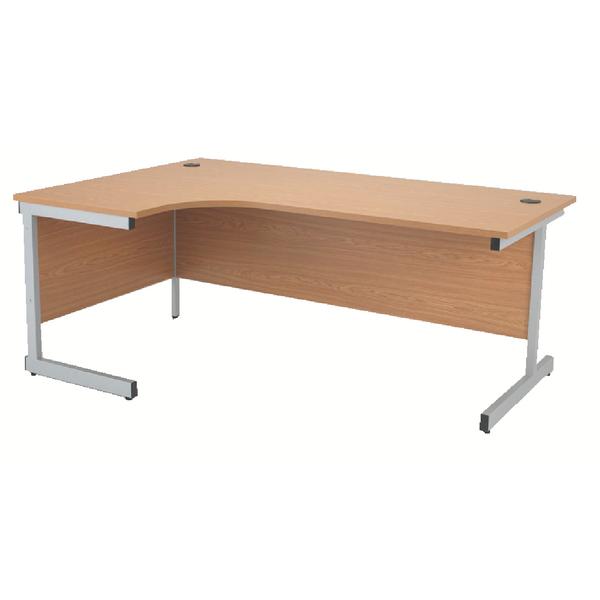Radial Jemini Oak/Silver 1800mm Left Hand Radial Cantilever Desk KF838052