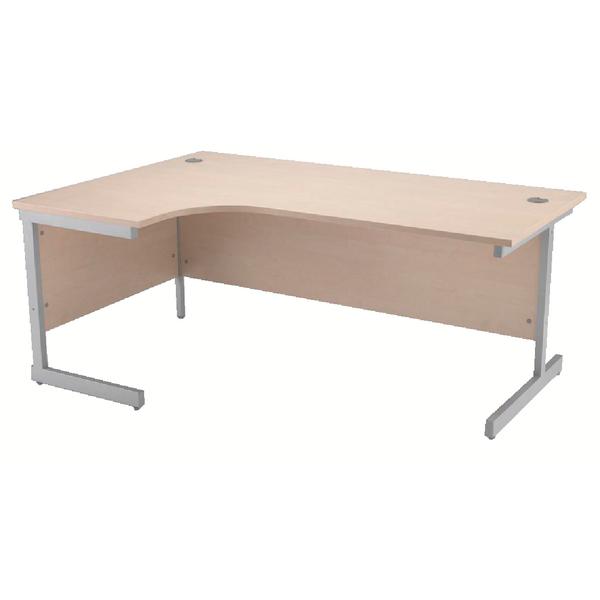 Radial Jemini Maple/Silver 1800mm Left Hand Radial Cantilever Desk KF838053