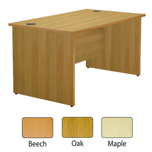Jemini Maple 1600mm Panel End Rectangular Desk KF838089