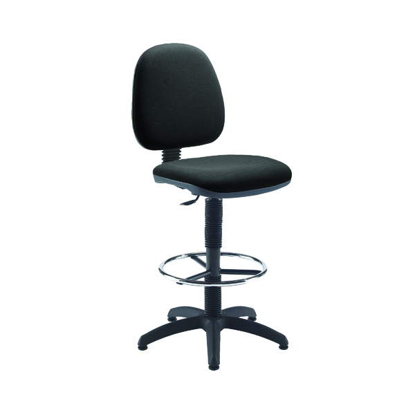 Draughtsman Jemini Medium Back Draughtsman Chair Charcoal KF838253