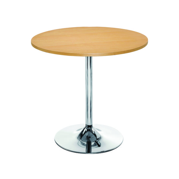 Tables Arista Beech/Chrome 800mm Small Bistro Trumpet Table KF838282