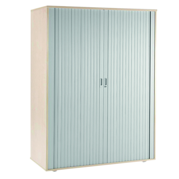 Up to 1200mm High Arista Maple Side Opening Tambour Cupboard KF838315