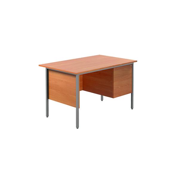 Unspecified Serrion Bavarian Beech 1200mm Four Leg Desk with Two Drawer Pedestal KF838371