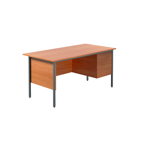 Unspecified Serrion Bavarian Beech 1500mm Four Leg Desk with Two Drawer Pedestal KF838375