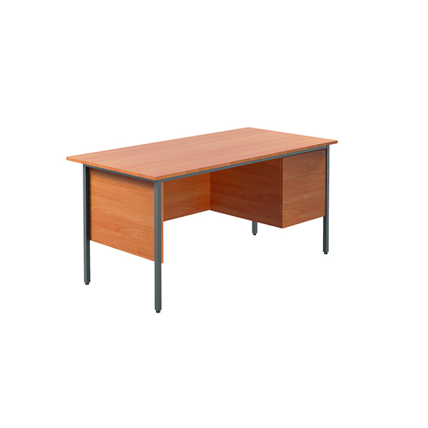 Unspecified Serrion Bavarian Beech 1500mm Four Leg Desk with Three Drawer Pedestal KF838377