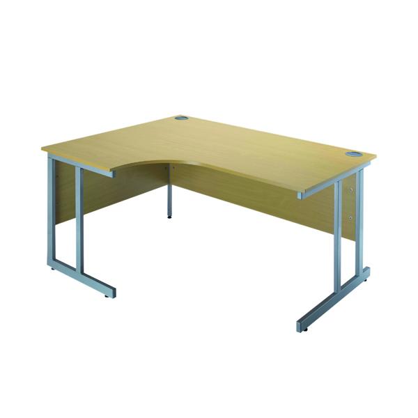 Unspecified Serrion Ferrera Oak 1200mm Radial Left Hand Cantilever Desk KF838521