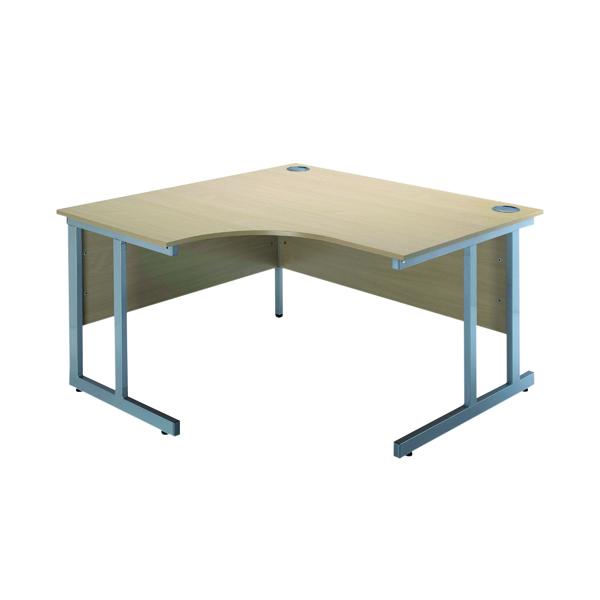 Unspecified Serrion Warm Maple 1200mm Radial Left Hand Cantilever Desk KF838522