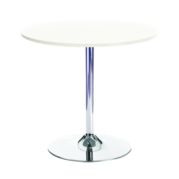Tables Arista White/Chrome 800mm Small Bistro Trumpet Table KF838544