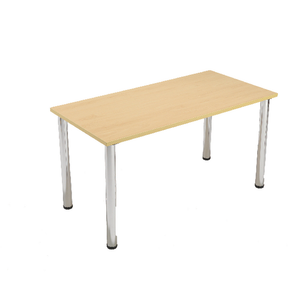 Serrion Bavarian Beech Rectangular Meeting Room Table Standard Leg KF838573