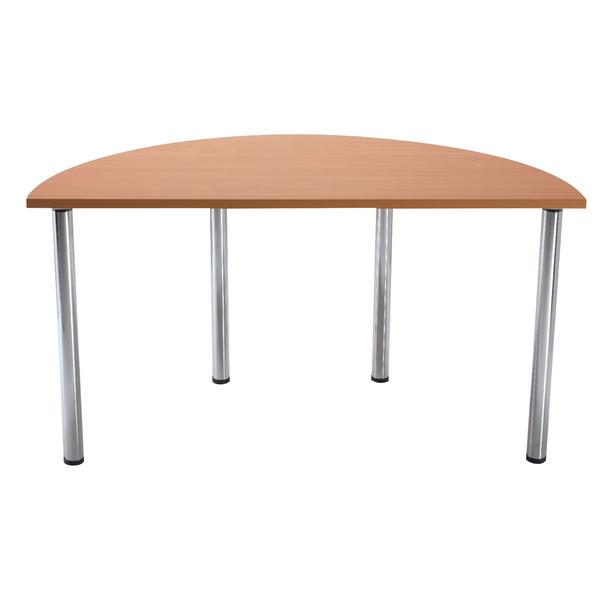 Various Serrion Bavarian Beech Semi-Circular Meeting Room Table Standard Leg KF838575