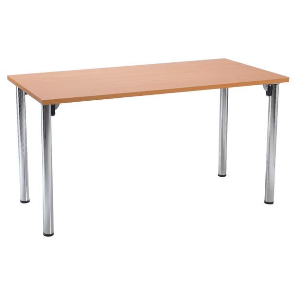 Various Serrion Bavarian Beech Rectangular Meeting Room Table Folding Leg KF838576