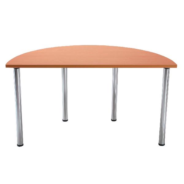 Various Serrion Bavarian Beech Semi-Circular Meeting Room Table Folding Leg KF838578